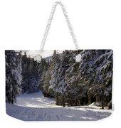 An Alpine Ski Trail On Wildcat Mountain Weekender Tote Bag