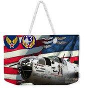 An American B-25c Pof Weekender Tote Bag