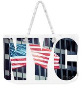 An American Flag In New York. Weekender Tote Bag