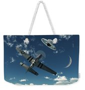 An American P-51 Mustang Gives Chase Weekender Tote Bag