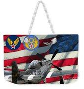 An American P-51d Pof Weekender Tote Bag
