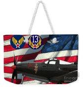 An American P-63 Pof Weekender Tote Bag