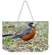 An American Robin With Muddy Beak Weekender Tote Bag