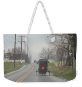 An Amish Buggy In April Weekender Tote Bag