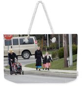 An Amish Family Going For A Walk Weekender Tote Bag