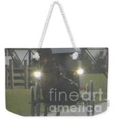 An Amish Family Travels Home In The Evening Weekender Tote Bag