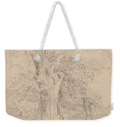 An Ancient Tree With Figures In A Landscape Weekender Tote Bag