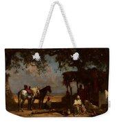 An Arab Encampment Weekender Tote Bag by Gustave Guillaumet
