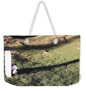 An Arlington Grave With Flowers And Shadows Weekender Tote Bag