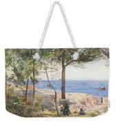 An Artist Painting By The Sea Weekender Tote Bag