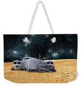 An Artists Depiction Of A Planetary Weekender Tote Bag