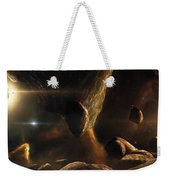 An Asteroid Field Next To An Earth-like Weekender Tote Bag
