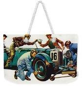 An Aston Martin Racing Car, Vintage 1932 Weekender Tote Bag