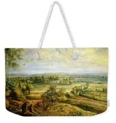 An Autumn Landscape With A View Of Het Steen In The Early Morning Weekender Tote Bag