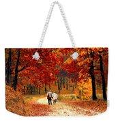 An Autumn Walk Weekender Tote Bag
