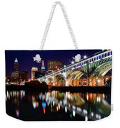 An Early Evening In Cleveland Weekender Tote Bag
