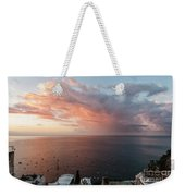 An Early Morning View From A Balcony In Positano, Campania, Ital Weekender Tote Bag