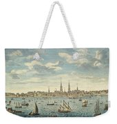 An East Prospective View Of The City Of Philadelphia Weekender Tote Bag