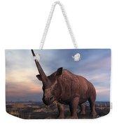 An Elasmotherium Grazing Weekender Tote Bag