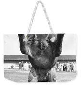An Elephant Headstand Weekender Tote Bag