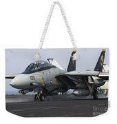 An F-14d Tomcat Launches Off The Flight Weekender Tote Bag