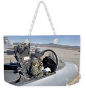 An F-15 Pilot Performs Preflight Checks Weekender Tote Bag by HIGH-G Productions