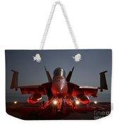 An Fa-18f Super Hornet Parked Weekender Tote Bag