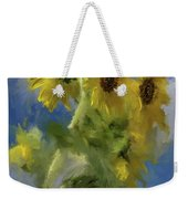 An Impression Of Sunflowers In The Sun Weekender Tote Bag