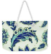 An Iznik Blue And White Pottery Tile, Turkey, 17th Century, By Adam Asar, No 18b Weekender Tote Bag