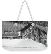An Obdurate Sinner Lives Here. B And W   Weekender Tote Bag