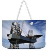 An Oil And Gas Drilling Platform Weekender Tote Bag
