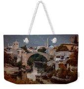 An Old Bridge In Mostar Weekender Tote Bag