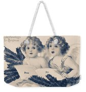 An Old Fashioned Christmas Greeting Weekender Tote Bag by Chris Armytage