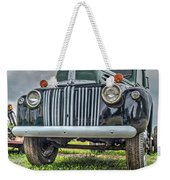 An Old Green Ford Truck Weekender Tote Bag