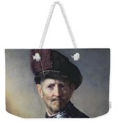 An Old Man In Military Costume Weekender Tote Bag by Rembrandt
