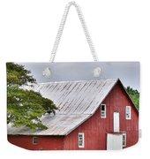 An Old Red Barn Weekender Tote Bag by Kim Bemis