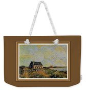 An Old Scottish Cottage Overlooking A Loch  L A S  With Decorative Ornate Printed Frame. Weekender Tote Bag