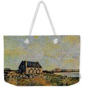 An Old Scottish Cottage Overlooking A Loch  L B Weekender Tote Bag