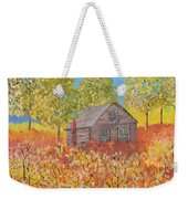An Old Abandoned Tenant House Weekender Tote Bag