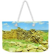 An Old Wall At The Pecos Ruins Weekender Tote Bag