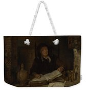 An Old Woman With A Book Weekender Tote Bag