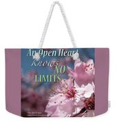 An Open Heart Knows No Limits Weekender Tote Bag