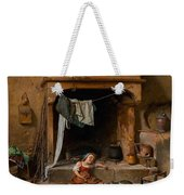 An Opportune Moment Girl Weekender Tote Bag