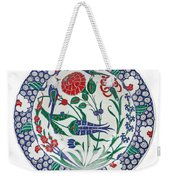 An Ottoman Iznik Style Floral Design Pottery Polychrome, By Adam Asar, No 1 Weekender Tote Bag