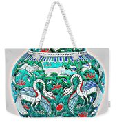 An Ottoman Iznik Style Floral Design Pottery Polychrome, By Adam Asar, No 7a Weekender Tote Bag
