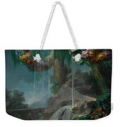 An Outdoor Scene With A Spring Flowing Into A Pool Weekender Tote Bag