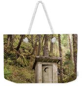 An Outhouse In A Moss Covered Forest Weekender Tote Bag