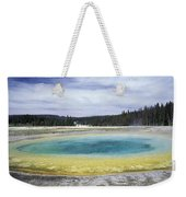 An Upper Geyser Basin At Chromatic Weekender Tote Bag