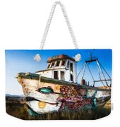 An Wooden Old Ship 2 Weekender Tote Bag