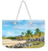 Anakena At Easter Island Weekender Tote Bag